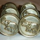 VINTAGE PEWTER ELEPHANT COIN NAPKIN RINGS HOLDER SET OF 11