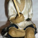 ANTIQUE CHINESE POTTERY MUD MAN FIGURINE WISE MAN