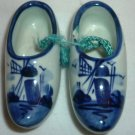 COLLECTIBLE DELFT PORCELAIN WHITE & BLUE MINIATURE CLOGS