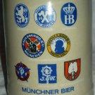 VINTAGE GERZ CERAMIC BEER STEIN MUG MUNCHNER BIER GERMANY STONEWARE