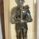 REPRODUCTION KING HENRY VIII IN FOOT COMBAT ARMOURPEWTER FIGURINE NMB ENGLAND