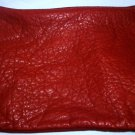 MT. AIRY LEATHERS BURGUNDY RED SOFT GRAIN LEATHER ZIPPERED COSMETIC POUCH