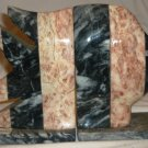 GORGEOUS NAUTICAL DESIGN GRANITE SET BOOK ENDS FISH PINK & BLACK