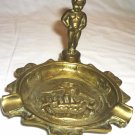 ANTIQUE BRONZE BRASS FIGURAL BRUSSELS PEEING BOY FIGURINE CIGARETTE ASHTRAY