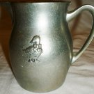VINTAGE CARSON PEWTER DUCK DECOR CREAMER