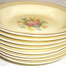 VINTAGE TAYLOR SMITH &  TAYLOR USA CHINA FLORAL DESIGN RIMMED SOUP BOWL SET OF 8