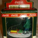 TOWN SQUARE COCA-COLA COLLECTION 'BOY WITH SLED BRINGING IT HOME' ORNAMENT #7960