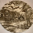 """ROYAL MAIL FINE STAFFORDSHIRE IRONSTONE 10"""" BROWN DINNER PLATE ENGLAND"""