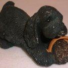 SANDRA BRUE SANDICAST BLACK SPANIEL PUPPY FIGURINE