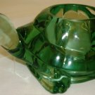 BEAUTIFUL INDIANA GREEN GLASS VOTIVE CANDLEHOLDER TURTLE FIGURINE