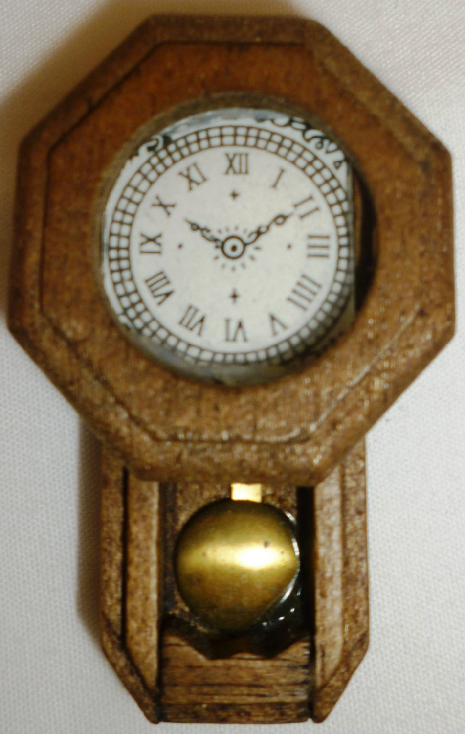 Vintage wall clock with pendulum vintage dollhouse miniatures wooden pendulum wall clock amipublicfo Image collections
