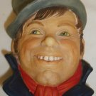 VINTAGE LEGEND PRODUCTS ENGLAND CHALKWARE SCULPTURED WALL HEAD MASK WELLER