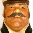VINTAGE LEGEND PRODUCTS ENGLAND CHALKWARE SCULPTURED WALL HEAD MASK DR. WATSON