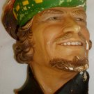 VINTAGE LEGEND PRODUCTS ENGLAND CHALKWARE SCULPTURED WALL HEAD MASK ROBIN HOOD