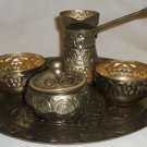 ANTIQUE TURKISH SARAJEVO BOSNIA DALLAH COFFEE SET TRAY CUPS SUGAR BOWL COFFEE