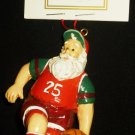 CHARMING CHRISTMAS TREE ORNAMENT SANTA PLAYING BASKETBALL #25 NM