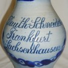 DAUTH SCHNEIDER FRANKFURT SACHCENHAUSEN POTTERY CLAY WINE BEER PITCHER GERMANY