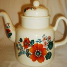 VINTAGE PORCELAIN CHINA PRICE KENSINGTON FLOWER TEA POT ENGLAND
