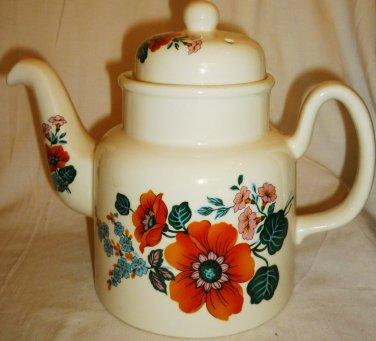 VINTAGE PORCELAIN CHINA PRICE KENSINGTON FLOWER TEA POT ENGLAND