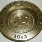 AVON PEWTER THE FIRST BUFFALO NICKEL ASHTRAY SOAP DISH WINE BOTTLE COASTER
