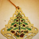 BEAUTIFUL LENOX CHINA PORCELAIN CHRISTMAS TREE COLOROFUL ORNAMENT NMB