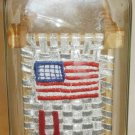 BOTTLE CRAFT UNIQUE HANDCRAFTED US AMRICAN FLAG IN A CLEAR BOTTLE