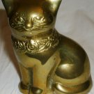 CHARMING SOLID BRASS CAT FIGURINE PAPER WEIGHT