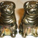 CUTE BULLDOG PUG DOG SILVERPLATED GODINGER SALT & PEPPER SHAKERS