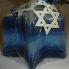 MULTISHADE BLUE STAR OF DAVID CANDLE GIFT JUDAISM