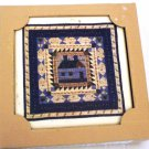 DECORATIVE ART TILE COASTERS SET QUILT LIKE DESIGN