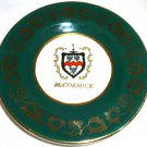 COLLECTIBLE PLATE McCORMIC FAMILY CREST BY ARKLOW POTTERY DUBLIN IRELAND HISTORY