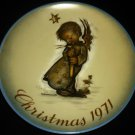 SCHMID SISTER BERTA HUMMEL COLLECTIBLE PORCELAIN PLATE CHRISTMAS 1971 W.GERMANY