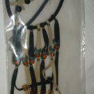 FASHION JEWELRY SET LEATHER NECKLACE & EARRINGS NEW GREAT FOR A GIFT