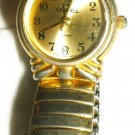 VINTAGE GOLD COLORED QUARTZ WATCH EXPANDABLE BRACELET