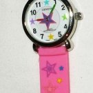 GIRL'S STAR POWER CHILDREN'S KID'S PINK BRACELET WATCH