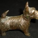 VINTAGE ANTIQUE PAINTED CAST IRON SCOTTISH TERRIER DOG MINIATURE FIGURINE