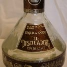 COLLECTIBLE TEQUILA EMPTY BOTTLE ANEJO EL DESTILADORFIGURAL ARTESANAL