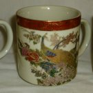 VINTAGE JAPAN CERAMIC SATSUMA HANDPAINTED GILDED COFFEE TEA MUG HERITAGE MINT 3