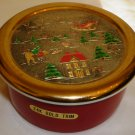 CHRISTMAS CHOKIN JAMESTOWN CHINA 24K GOLD TRIM TRINKEN BOX JAPAN