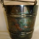 UNIQUE COLLECTIBLE PALLOTTA HOTELS SILVERPLATE COAL ICE BUCKET BY BROGGI ITALY