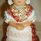 BEAUTIFUL HAND MADE MOLNAR-MARTON HUNGARY CERAMIC STUDIOS FOLK DRESSED FIGURINE