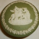 VINTAGE WEDGWOOD JASPARWARE GREEN SMALL TRINKET JEWELRY BOX PEGASUS