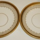 VINTAGE FINE CHINA CAULDRON ENGLAND L4000 SAUCER SET OF 2