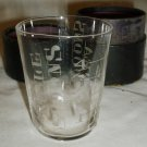 ANTIQUE MEDICINE GLASS MEASUREMENT CUP WITH ETCHED SPOON SIZE MARKS LEATHER CASE