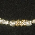 BEAUTIFUL SILVER STERLING & WITH GOLD DOTS FINE BRACELET