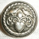 CHARMING PEWTER BUTTON LOVE BIRDS