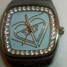 ROXY WATER RESISTANT WATCH RHINESTONES QUARTZ