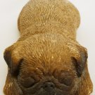 SANDICAST SANDRA BRUE FIGURINE DOG PUPPY PUG LAYING DOWN 'SNORING'