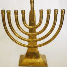 FRED HOLLINGER SIGNED SOLID BRASS MENORAH AVIV JUDAICA JUDAISM HANNUKAH