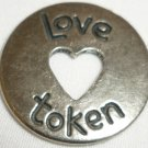 PEWTER LOVE TOKEN HEART GOOD FOR ONE ROLL IN THE HAY